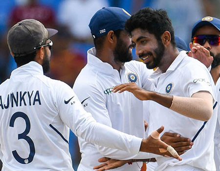Social Buzz : India defeats West Indies by 318 runs in Antigua