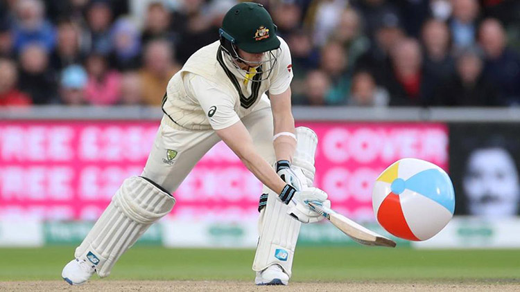 Ashes 2019: Steve Smith hits a beach ball to a boundary