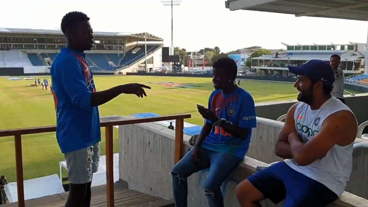 Ind vs Wi: Rohit Sharma makes the day of two of his Jamaican fans