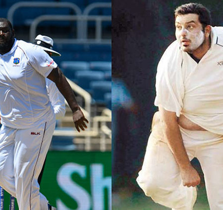 The heaviest cricketer of Mumbai is watching the beefy Rahkeem Cornwall very keenly