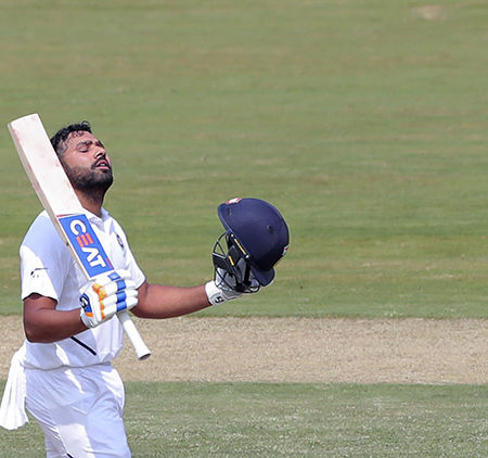 Rohit Sharma smashes century in his maiden Test as an Opener