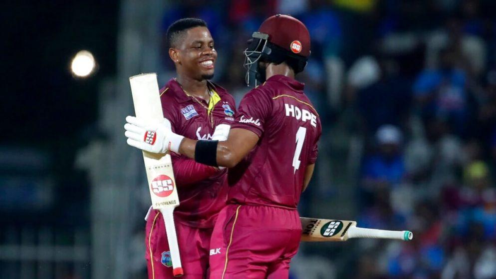 India Vs West Indies – Hetmyer and Hope help WI take 1-0 lead