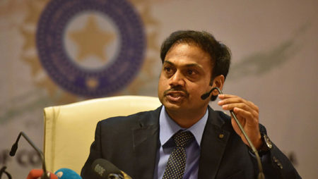 Ganguly hints tenure of MSK Prasad as a chief selector is over