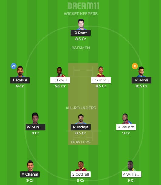India vs west indies dream11 tips