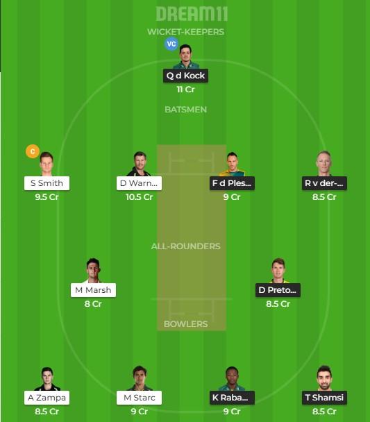 dream11 team prediction today
