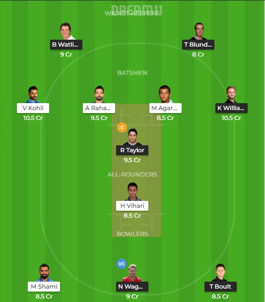 Team 2 –  dream 11 prediction for today match