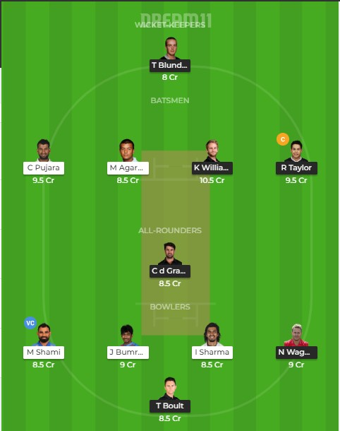 Team 1 – dream 11 predictions