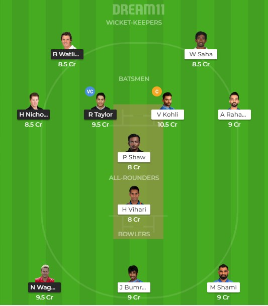 Team 1 – Dream11 team prediction