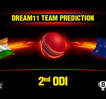 IND vs NZ 2nd ODI Dream11 Team prediction   Match Prediction