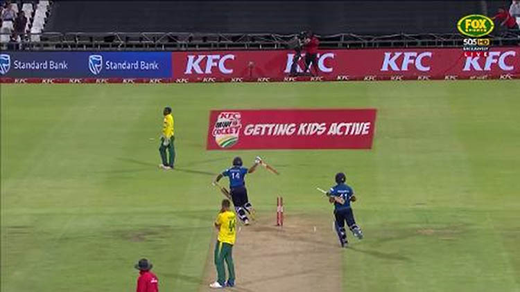 moments Asela Gunaratne against South Africa (Cape Town 2017)