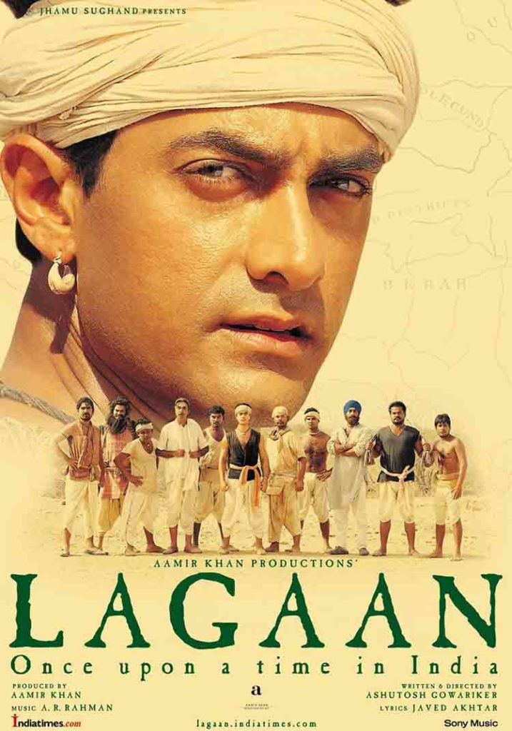 Lagaan (2001) - Hindi cricket movies