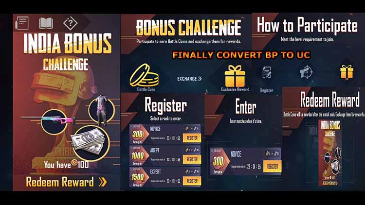 India Bonus Challenge - how to get free uc in pubg