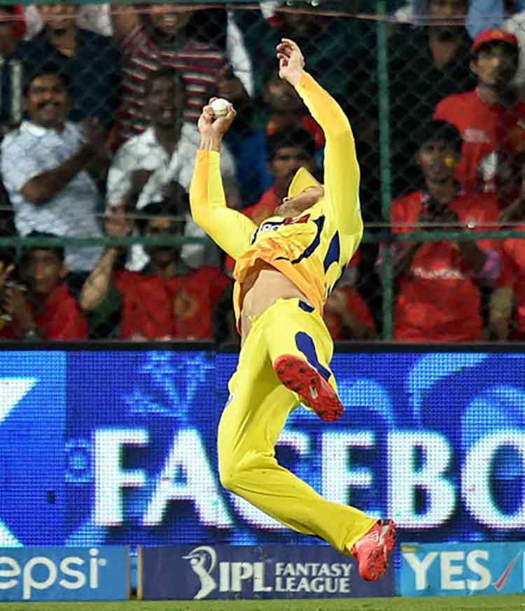 Faf du Plessis dismissed Corey Anderson in IPL 2015