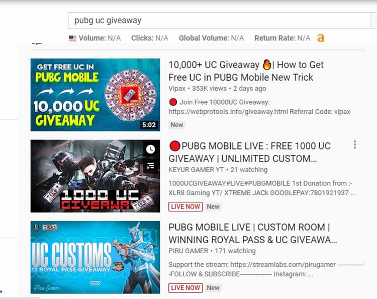 Take part in Giveaways