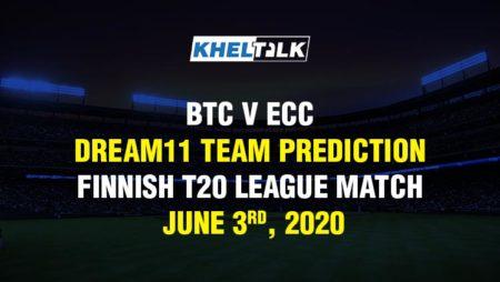 BTC v ECC Dream11 Team Prediction – Finnish T20 League Match – June 3rd, 2020