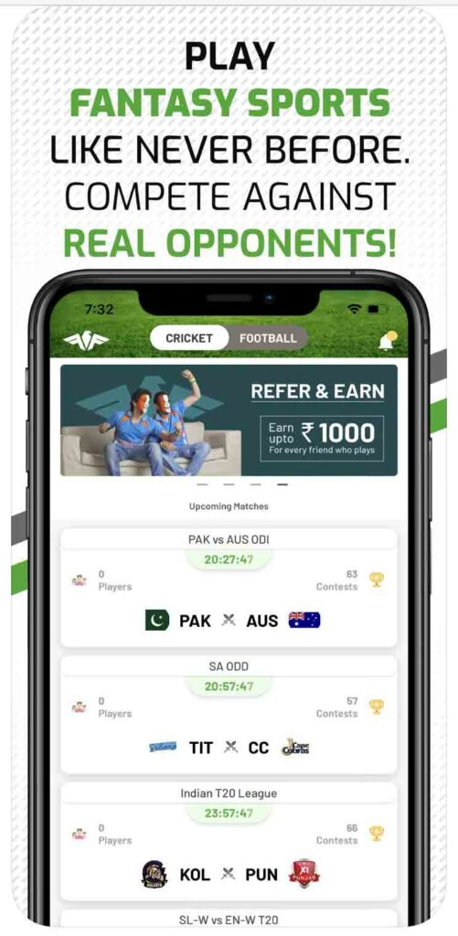 Enhance winning chances by playing Cricket, Football and Kabaddi fixtures