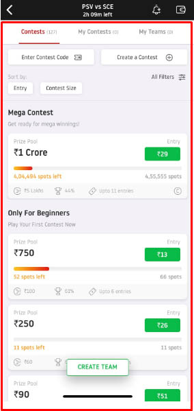 What is the Grand League/Mega Contest?