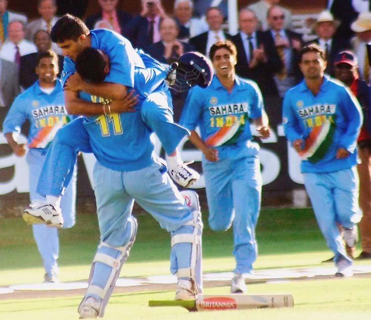 India shared the 2002 ICC Champions Trophy with Sri Lanka