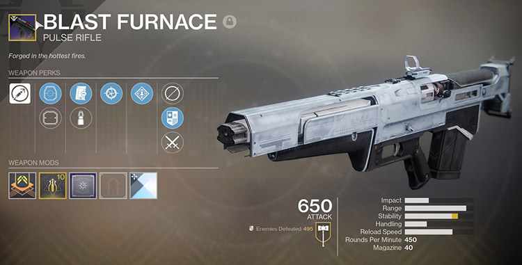 What are the advantages of using the Blast Furnace weapon?