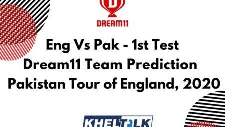 Eng Vs Pak – 1st Test – Dream11 team prediction today   Match Prediction   Pitch Report   Toss prediction – Pakistan Tour of England, 2020