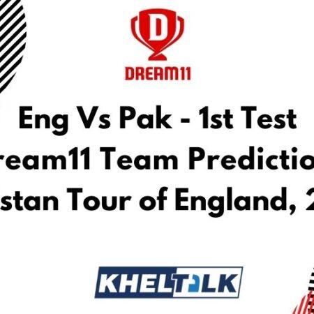 Eng Vs Pak – 1st Test – Dream11 team prediction today | Match Prediction | Pitch Report | Toss prediction – Pakistan Tour of England, 2020