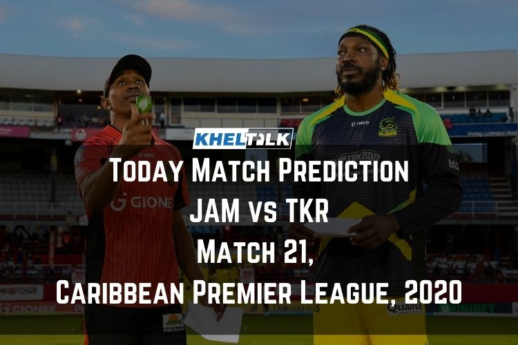 Today Match Prediction – TKR vs JAM – CPL 2020 – 21st Match
