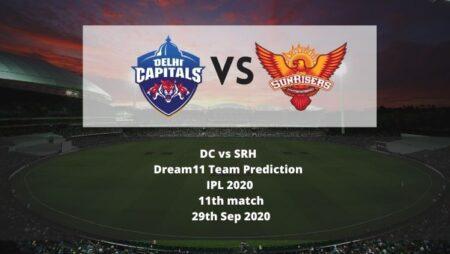 DC vs SRH Dream11 Team Prediction   IPL 2020   11th match   29th Sep 2020