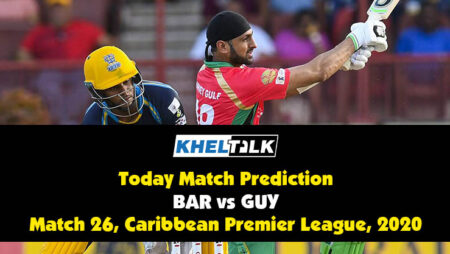 CPL 2020: GUY vs BAR   Today Match Prediction   Who will win the match   4th September
