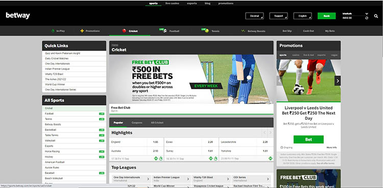 FAQS On Betway India