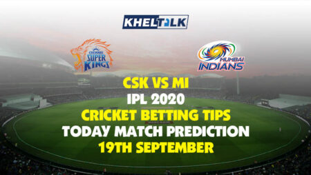 CSK vs MI | IPL 2020 | Cricket Betting Tips | Today Match Prediction | 19th September