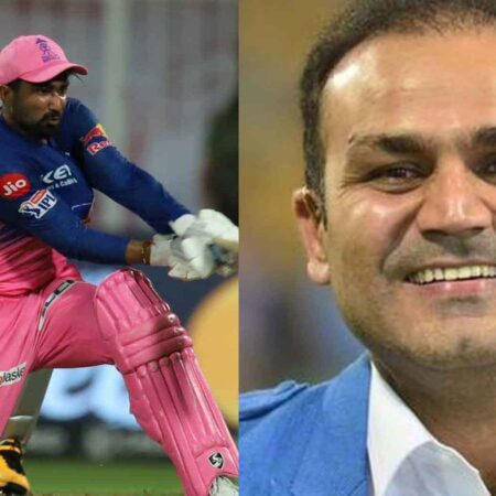 """Mata aa Gayi,"" Virender Sehwag hilariously reacts to RR all-rounder knock against KXIP"