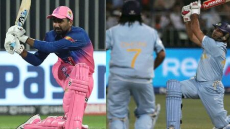 """Na Bhai Na"" Yuvraj Singh reacts after Rahul Tewatia missed out on breaking his World Record"