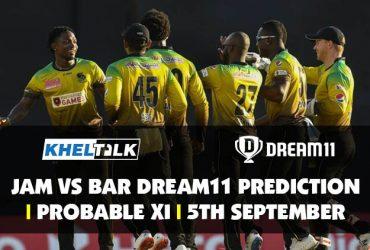 JAM vs BAR Dream11 Prediction   Probable XI   5th September  CPL 2020