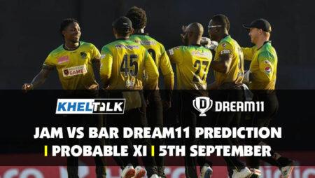 JAM vs BAR Dream11 Prediction | Probable XI | 5th September | CPL 2020