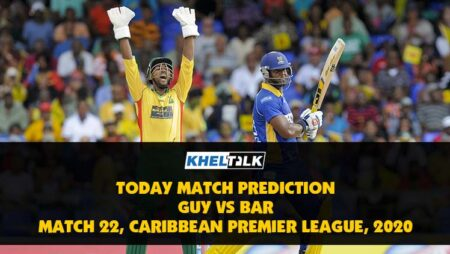 Today Match Prediction – GUY vs BAR – CPL 2020 – 22nd Match