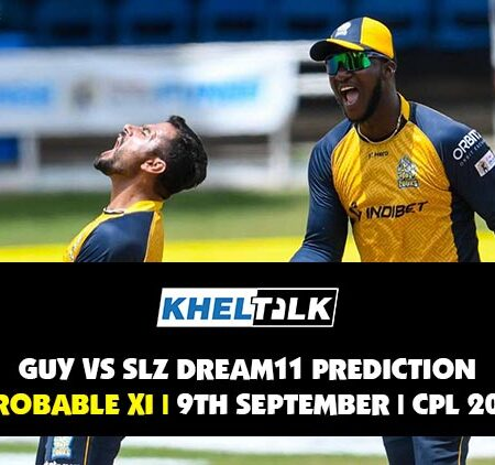 GUY vs SLZ Dream11 Prediction | Probable XI | 9th September | CPL 2020