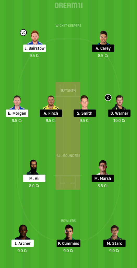 ENG vs AUS Dream11 Prediction for Head to Head Matches