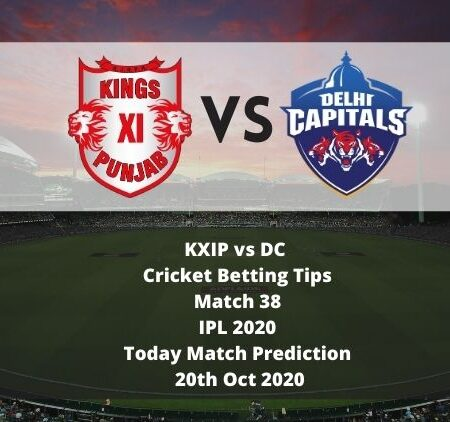 KXIP vs DC | Cricket Betting Tips | Match 38 | IPL 2020 | Today Match Prediction | 20th Oct 2020