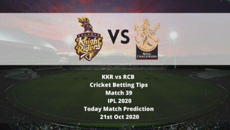 KKR vs RCB   Cricket Betting Tips   Match 39   IPL 2020   Today Match Prediction   21st Oct 2020
