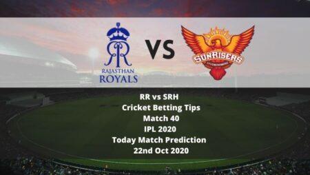RR vs SRH   Cricket Betting Tips   Match 40   IPL 2020   Today Match Prediction   22nd Oct 2020