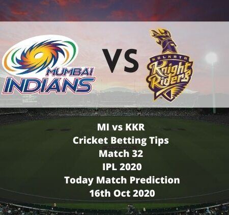 MI vs KKR | Cricket Betting Tips | Match 32 | IPL 2020 | Today Match Prediction | 16th Oct 2020