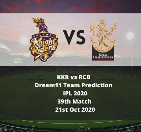 KKR vs RCB Dream11 Team Prediction   IPL 2020   39th Match   21st Oct 2020