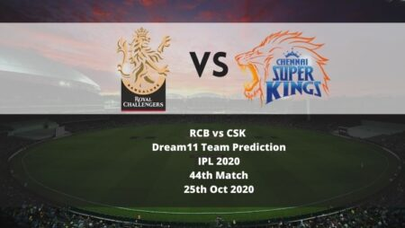 RCB vs CSK Dream11 Team Prediction | IPL 2020 | 44th Match | 25th Oct 2020