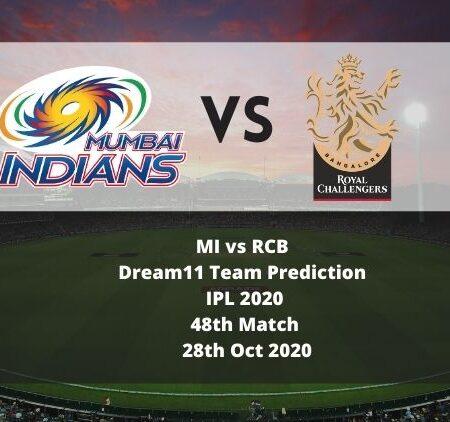 MI vs RCB Dream11 Team Prediction   IPL 2020   48th Match   28th Oct 2020