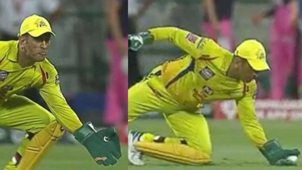 IPL 2020: MS Dhoni Takes A One-Handed World Class Catch Against Royals- Watch