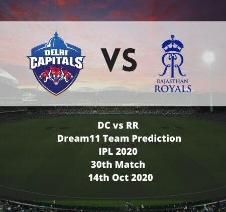 DC vs RR Dream11 Team Prediction | IPL 2020 | 30th Match | 14th Oct 2020