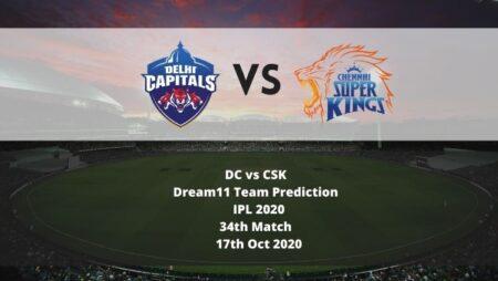 DC vs CSK Dream11 Team Prediction   IPL 2020   34th Match   17th Oct 2020