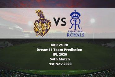 KKR vs RR Dream11 Team Prediction