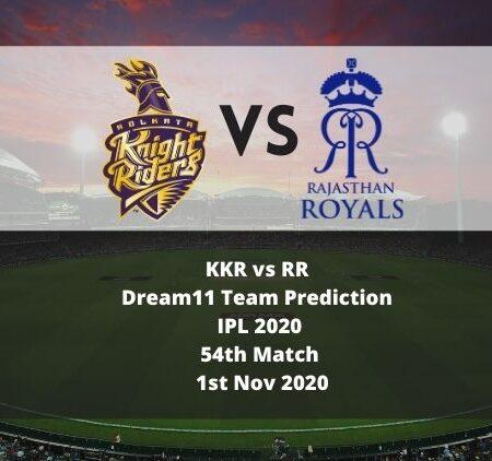 KKR vs RR Dream11 Team Prediction   IPL 2020   54th Match   1st Nov 2020