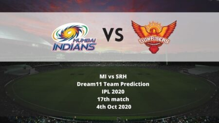 MI vs SRH Dream11 Team Prediction | IPL 2020 | 17th match | 4th Oct 2020